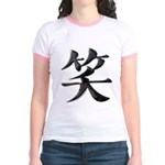 Smile Japanese Kanji Jr. Ringer T-Shirt