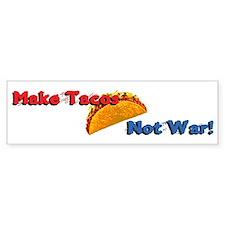 Make Tacos, Not War! Car Sticker