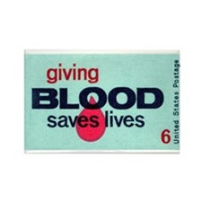 Blood Donor Stamp Rectangle Magnet