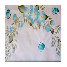 """Fantasy Hibiscus"" Tile Coaster"