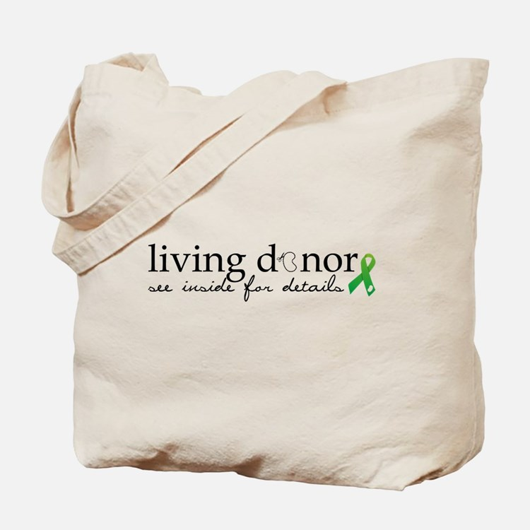 Cute Living donor Tote Bag