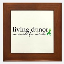 Cute Kidney donor Framed Tile