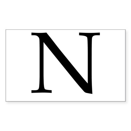 N Sticker (Rectangle)