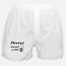 Potter. Licensed to Kiln (sketch) Boxer Shorts