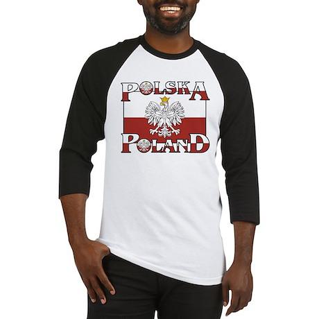 Polska Flag / Poland Coat of Baseball Jersey