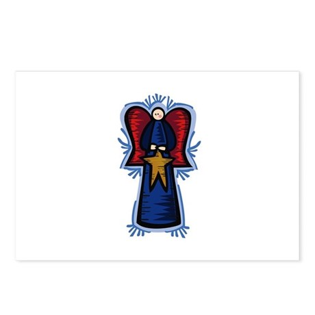 Angel with Star Postcards (Package of 8)
