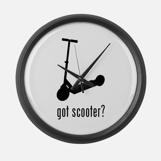 Scooter Large Wall Clock
