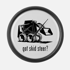 Skid Steer Large Wall Clock