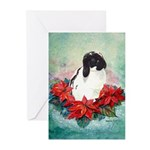 Rabbit Poinsettia Christmas Cards (20 pk)