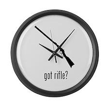 Rifle Large Wall Clock