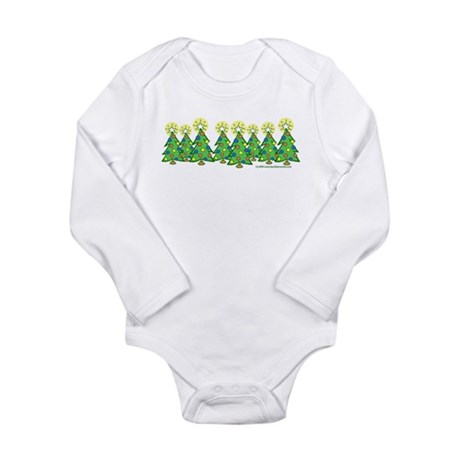Christmas Forest Long Sleeve Infant Bodysuit