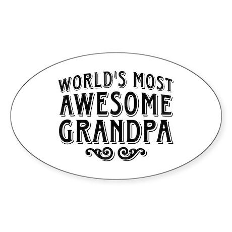 Awesome Grandpa Sticker (Oval)