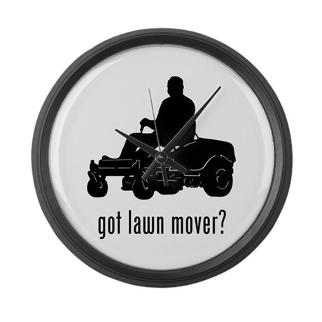 Lawn Mower 2 Large Wall Clock