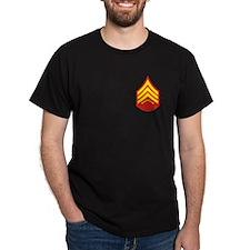 USMC Sergeant<BR> Black T-Shirt