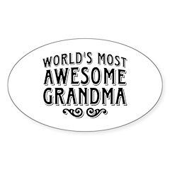 Awesome Grandma Decal