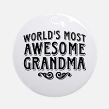 Awesome Grandma Ornament (Round)