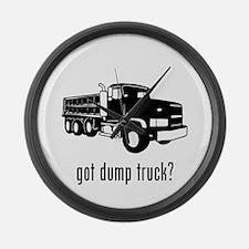 Dump Truck 2 Large Wall Clock