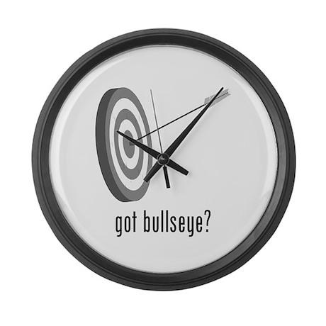 Bullseye Large Wall Clock