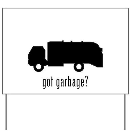 Garbage Truck Yard Sign