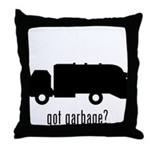 Garbage Truck Throw Pillow