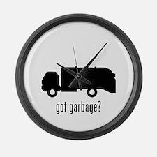 Garbage Truck Large Wall Clock