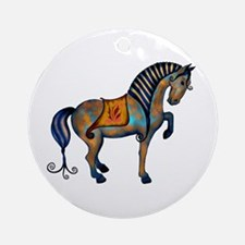 Tang Horse #2  Ornament (Round)