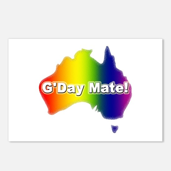 Gay Pride Mate Postcards (Package of 8)