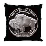 Silver Buffalo Throw Pillow