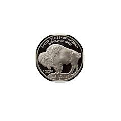 Silver Buffalo Mini Button (100 pack)