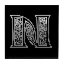 N Monogram Tile Coaster