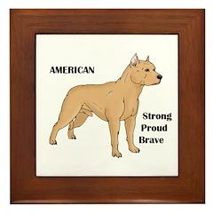 American Cartoon Dog Framed Tile