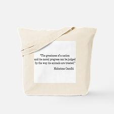 Gandhi Quote Tote Bag