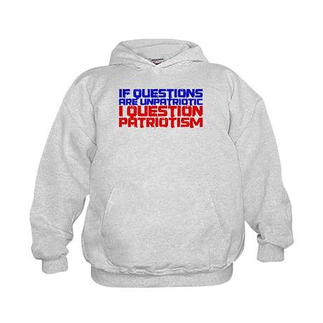 Question Patriotism Kids Hoodie