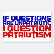 Question Patriotism Sticker (Rectangle)