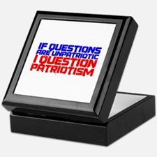 Question Patriotism Keepsake Box