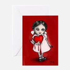 valentine-girl-9x12.jpg Greeting Cards