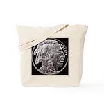 Silver Indian-Buffalo Tote Bag