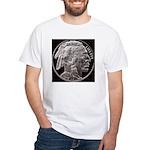 Silver Indian-Buffalo White T-Shirt