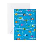 Tropical Fish Card (Pk of 10)