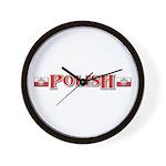 Polish Flag / Poland Gifts Wall Clock