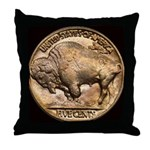 Nickel Buffalo Throw Pillow