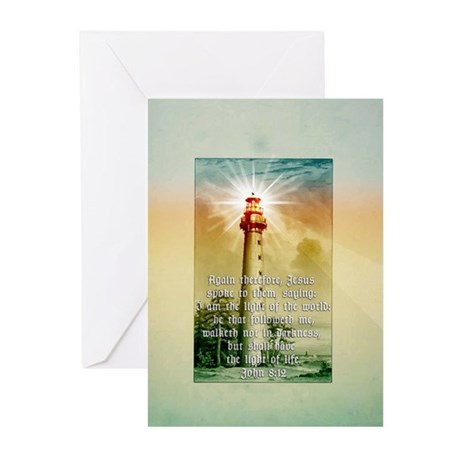 Light of the World (tall) Greeting Cards