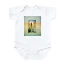Funny Christian lighthouse Infant Bodysuit