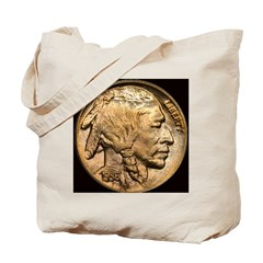 Nickel Indian-Buffalo Tote Bag