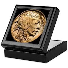 Nickel Indian Head Keepsake Box