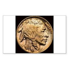 Nickel Indian Head Rectangle Decal