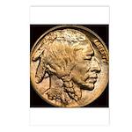 Nickel Indian Head Postcards (Package of 8)