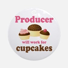 Funny Producer Ornament (Round)