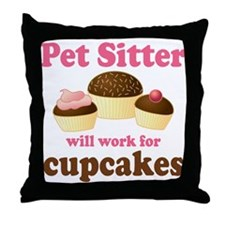 Funny Pet Sitter Throw Pillow