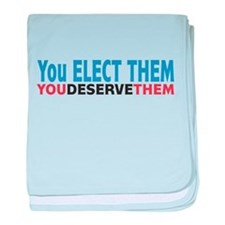 Politician Elections baby blanket